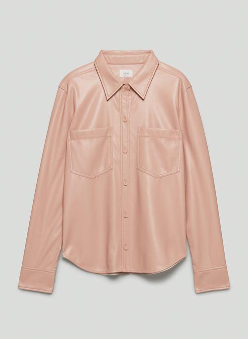 TARYN BUTTON-UP - Vegan Leather button-up shirt