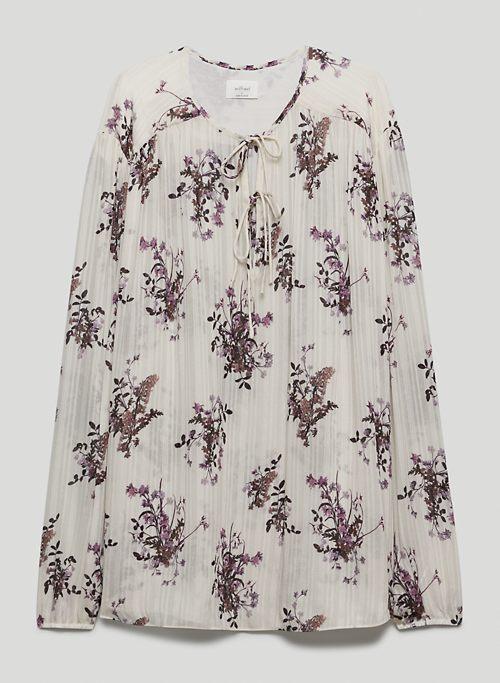 EMILIA BLOUSE - Printed tie-neck tunic