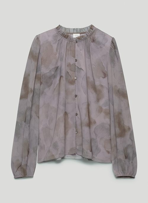 SANTIAGO BUTTON-UP - Printed long-sleeve, button-up blouse