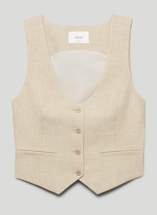 DESIRE VEST - Recycled V-neck suit vest