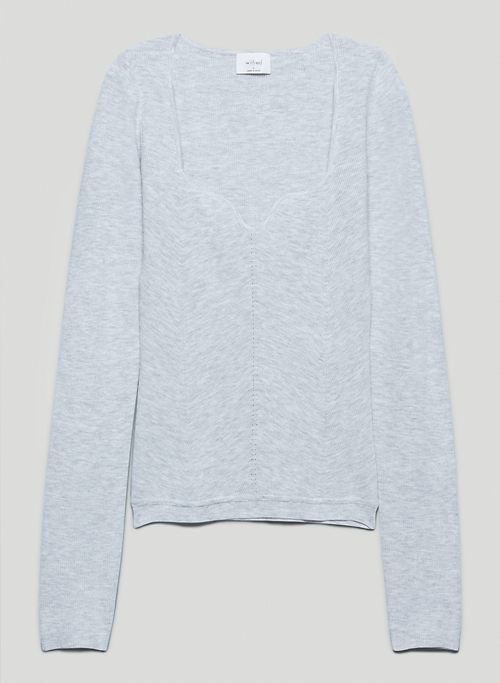 TUSCANY SWEATER - Sweetheart-neck sweater
