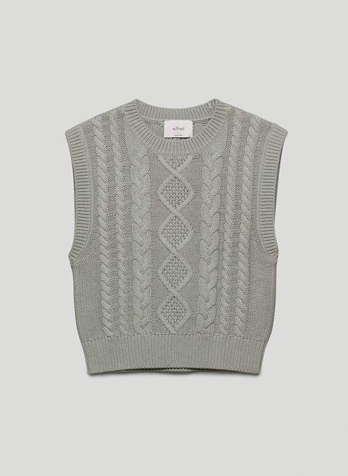 ALPS VEST - Mock-neck, cable-knit sweater vest