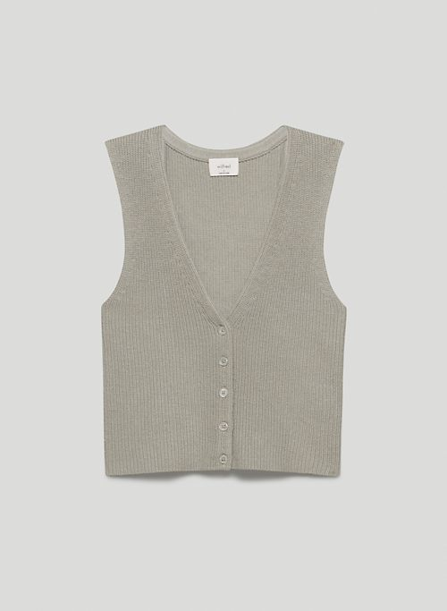 ANYA VEST - Button-up wool sweater vest