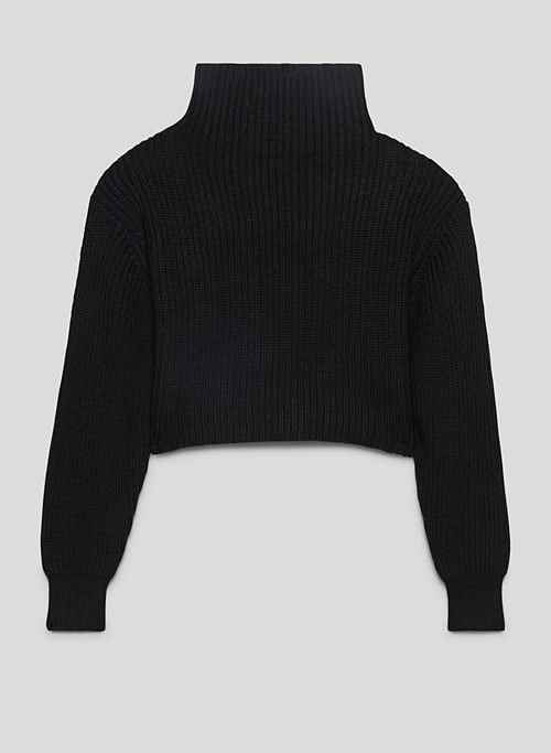 MONTPELLIER CROPPED TURTLENECK - Cropped merino wool turtleneck