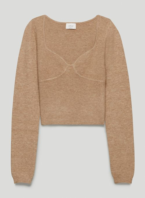GREER SWEATER - Sweetheart bustier sweater