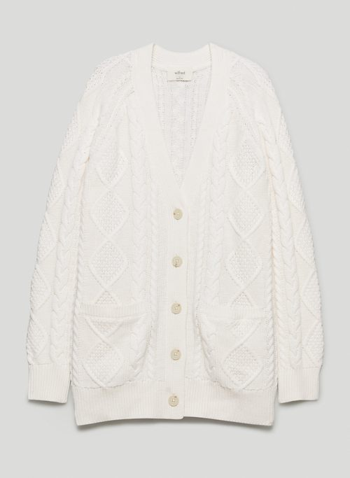 ANYA SWEATER - Cable-knit cardigan