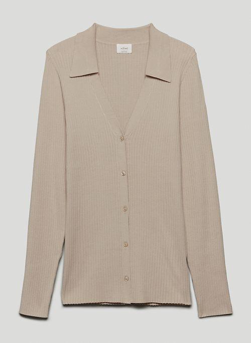 SYDNEY CARDIGAN - Collared, V-neck cardigan