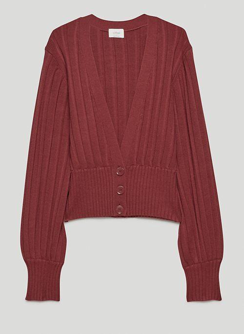 PLUNGE FRONT CARDIGAN - Deep V-neck cardigan
