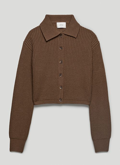 NASIM SWEATER - Collared merino wool cardigan