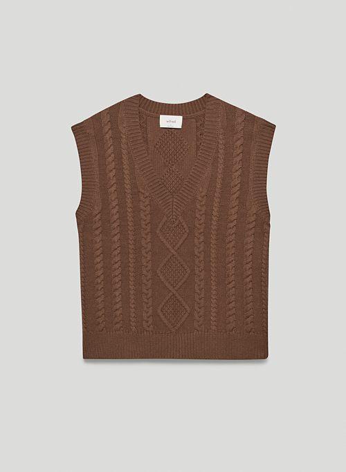 SHIRA VEST - Knit V-neck sweater vest
