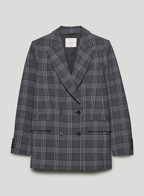 MARGAUX BLAZER - Plaid double-breasted blazer