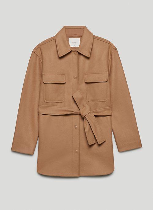 RIALTO SHIRT JACKET - Belted wool shacket