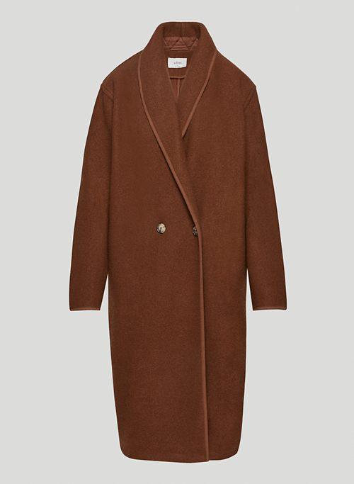 CHARLIZE JACKET - Merino wool shawl-collar jacket