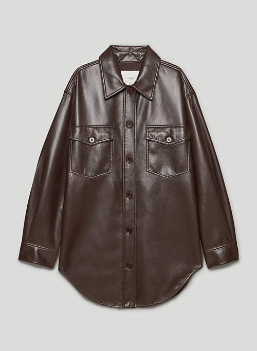THE GANNA SHIRT JACKET - Vegan Leather shacket