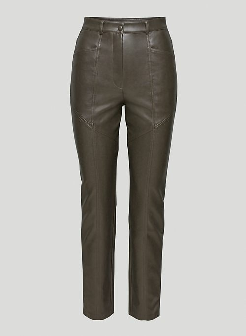 REBEL PANT - High-waisted Vegan Leather pants
