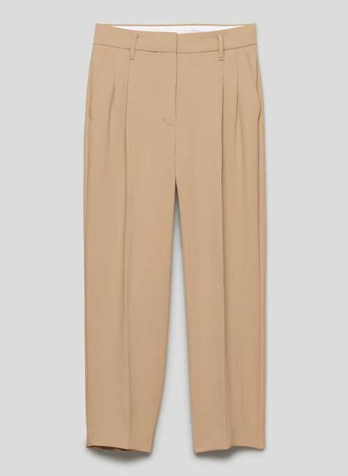 EFFORTLESS CROPPED PANT - Cropped high-waisted, wide-leg pants