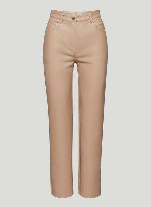 MELINA PANT - High-waisted Vegan Leather pants