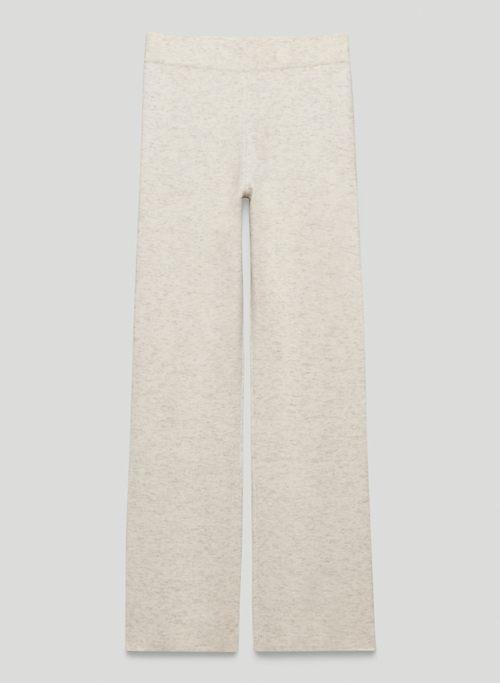 ABIGAIL PANT - High-waisted, knit kick-flare pants