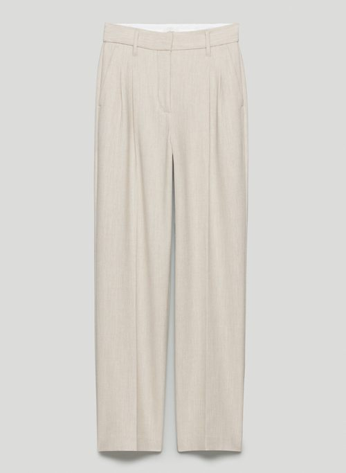 EFFORTLESS PANT - High-waisted, wide-leg twill pants