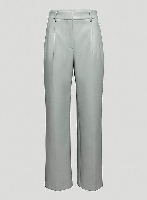 EFFORTLESS PANT - High-waisted, wide-leg Vegan Leather pants