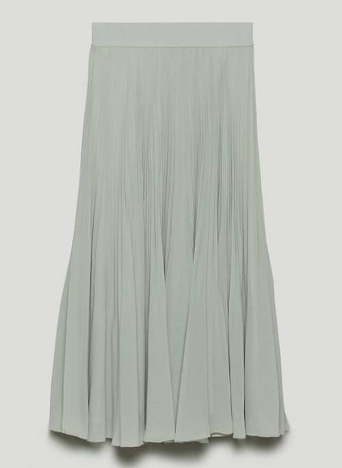 TWIRL SKIRT - Pleated chiffon midi skirt
