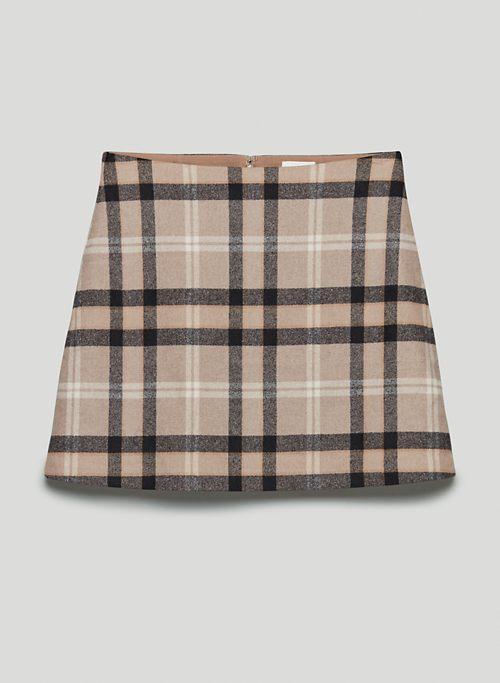 CLASSIC MINI SKIRT - Wool-cashmere mini skirt
