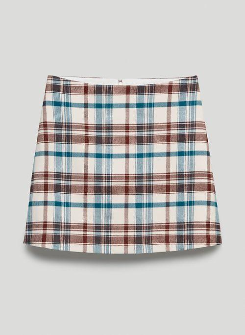 CLASSIC MINI SKIRT - Recycled plaid twill mini skirt