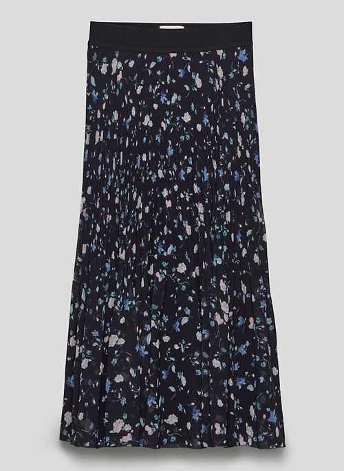 TWIRL SKIRT - Printed, pleated chiffon midi skirt