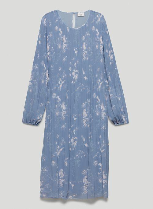 DAYDREAMER MIDI DRESS - Printed, pleated chiffon midi dress
