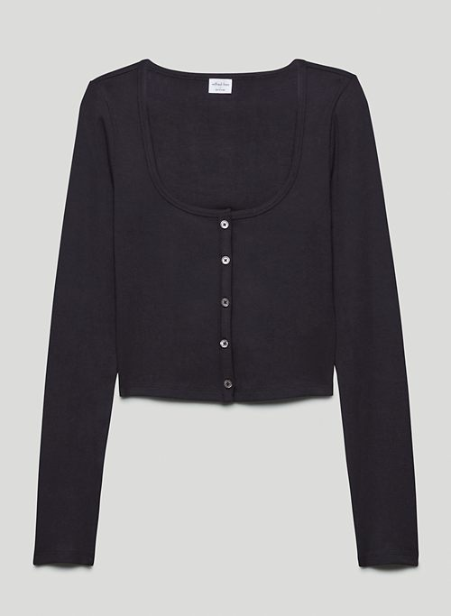 KENZIE LONGSLEEVE - Square-neck cardigan