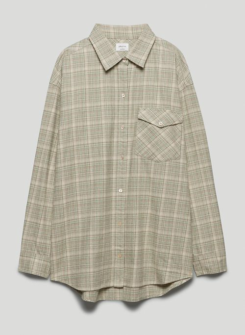 MARTA BUTTON-UP - Oversized flannel button-up shirt