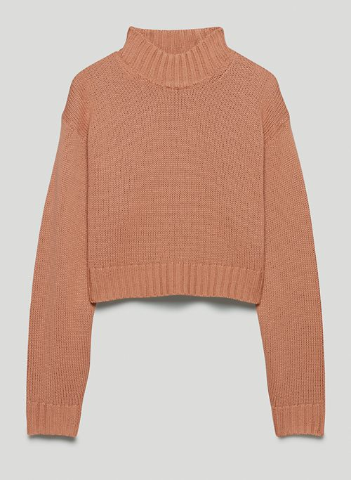 HARPER SWEATER - Merino wool mock-neck sweater