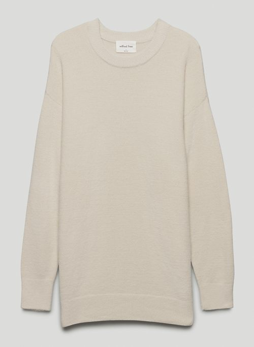 HUSH KNIT SWEATER - Crew-neck chenille sweater