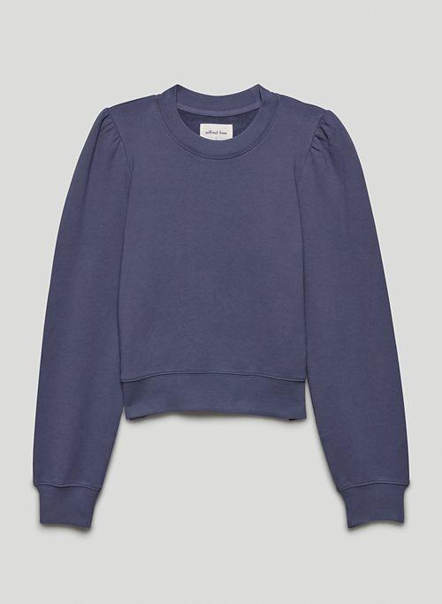 FREE TERRY FLEECE SWEATER - Organic cotton, puff-sleeve sweater