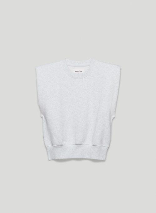 FREE FLEECE VEST - Organic cotton sweater vest with shoulder pads