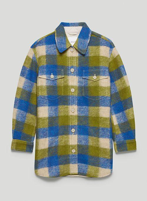 THE GANNA SHIRT JACKET - Plaid wool shacket