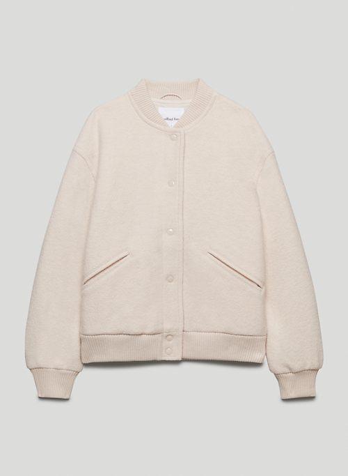 JOSIE BOMBER JACKET - Oversized wool bomber jacket