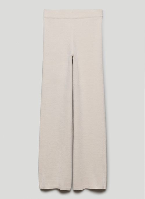 HUSH KNIT PANT - High-waisted chenille pants