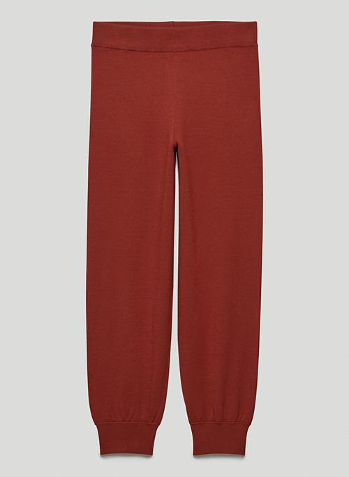 RONNIE PANT - High-waisted knit joggers