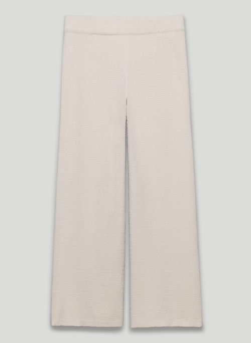 HUSH KNIT WIDE CROPPED PANT - High-waisted, wide-leg chenille pants