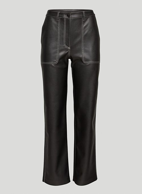 LUCY PANT - High-waisted Vegan Leather utility pants