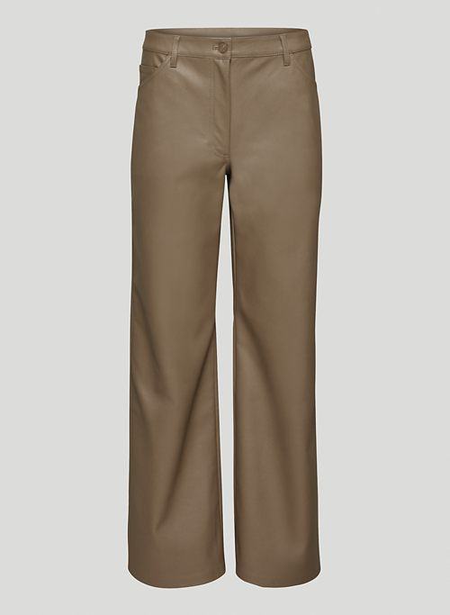 VALERIE PANT - Low-rise Vegan Leather pants