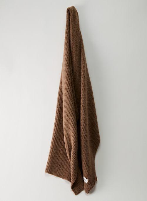 SNOWED IN SCARF - Rib-knit chenille scarf