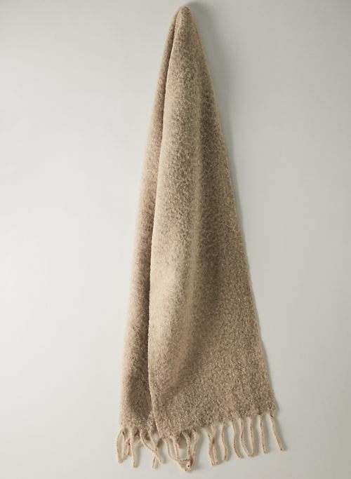 ARIA SCARF - Wool scarf with fringe