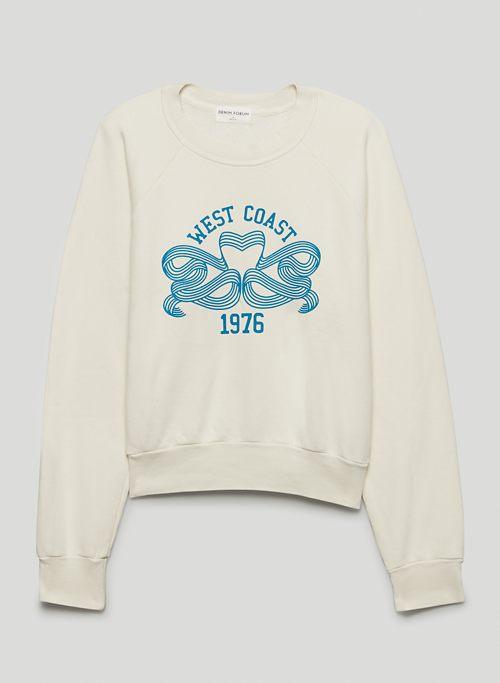 THE DEBBIE CREW SWEATSHIRT - Relaxed graphic crew-neck sweatshirt