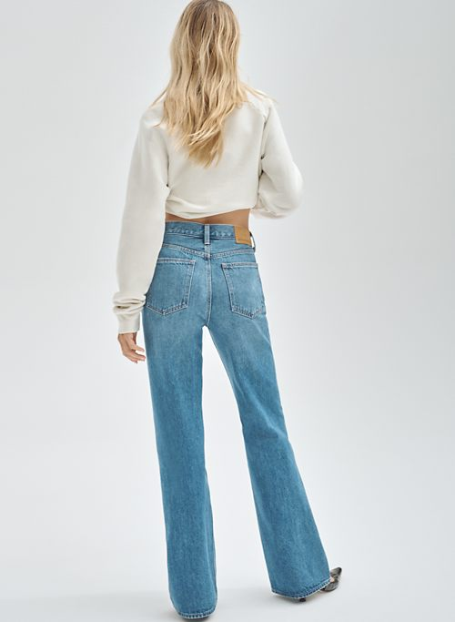 THE MARIANNE MID RISE LOOSE FLARE 32L - Mid-rise loose flared jeans