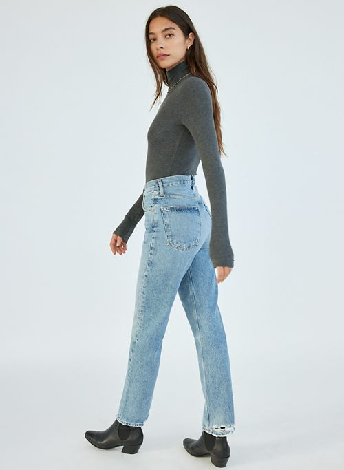90S PINCH WAIST JEAN - High-waisted, straight-leg jeans