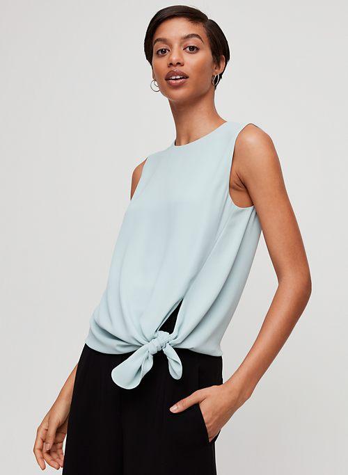 ed62db588710d2 Blue   Tie Front Blouses for Women   Aritzia US