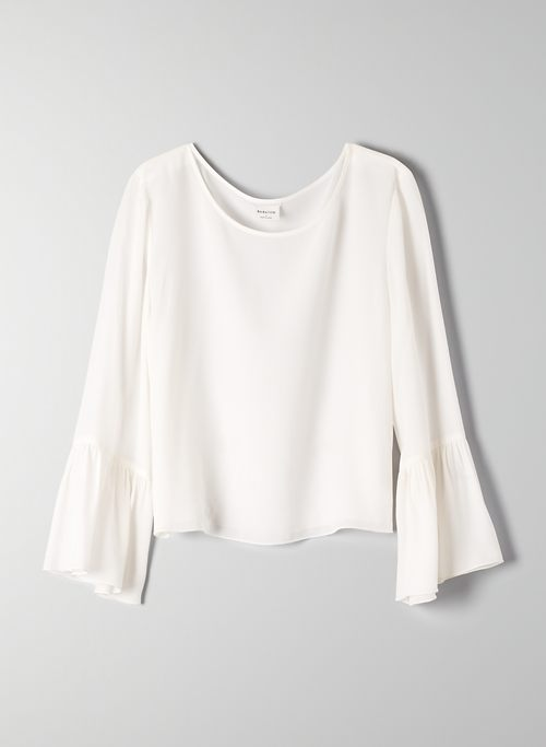 HUMBERT BLOUSE - Cropped, bell-sleeve blouse