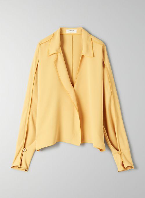 61580e54e7b104 Yellow   Long Sleeve Blouses for Women   Aritzia US
